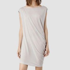AllSaints Rally Tee Dress in gray